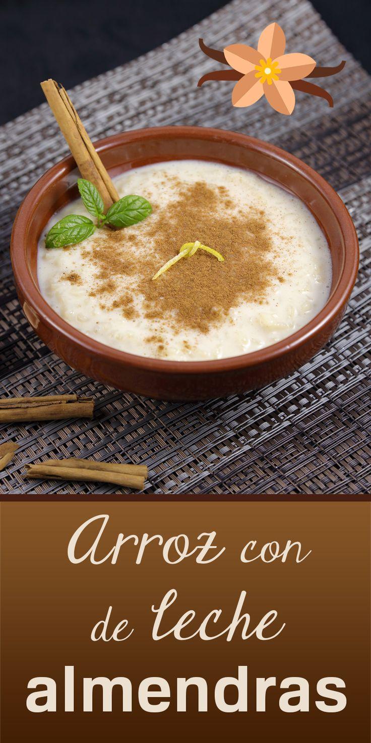 Arroz con leche de almendras y canela. Receta deliciosa y fácil de hacer.