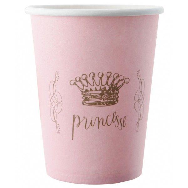 gobelet en carton princesse vaisselle jetable pas cher badaboum - Vaisselle Colore Pas Cher