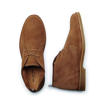 Selected Homme Tan' Royce' Men's Suede Shoes- | Debenhams