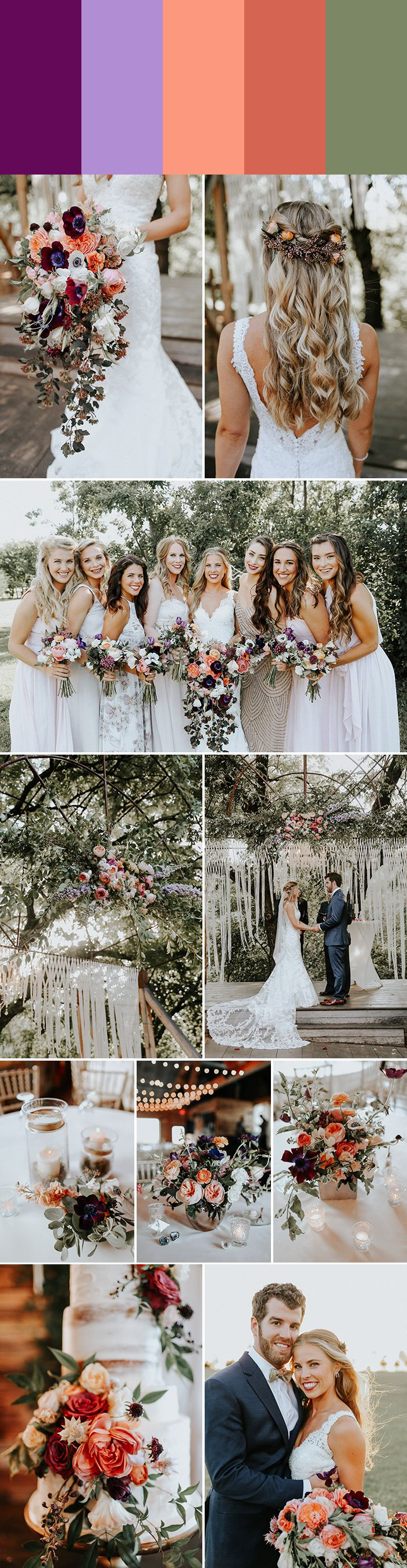These violet wedding color palettes inspired by the Pantone 2018 Color of the Year are as romantic and stylish as they are on-trend!