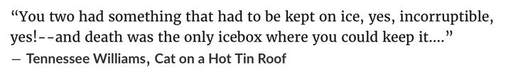 Tennessee Williams, Cat on a Hot Tin Roof