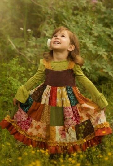 LOVE Persnickety's kids clothes! It's like Pirates of the Caribbean meets the 70s meets Holly Hobbie...gorgeous!  Persnickety Clothing - Patchwork Dress - Multicolor