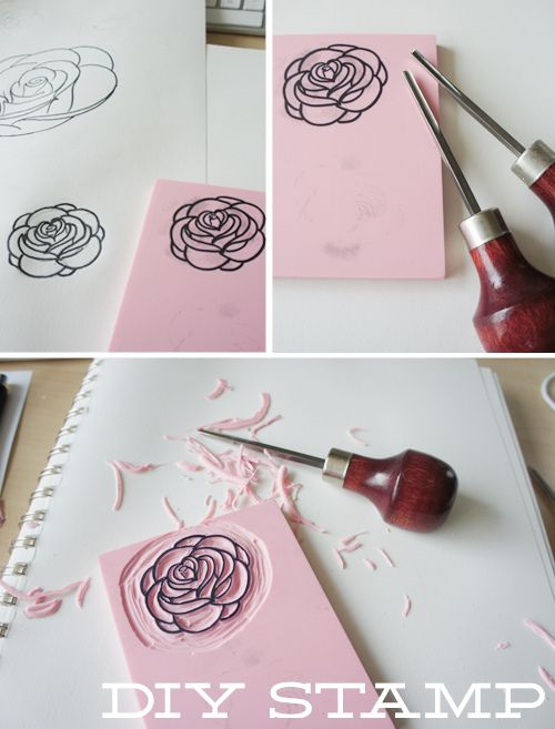 how to make block printing stamps at home