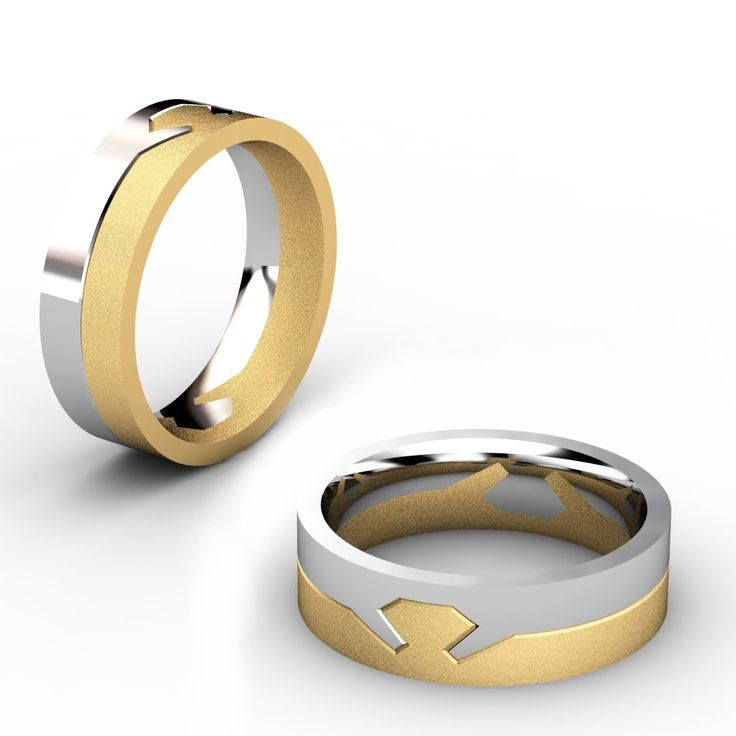 13 best images about wedding rings on pinterest the two for Interlocking wedding bands