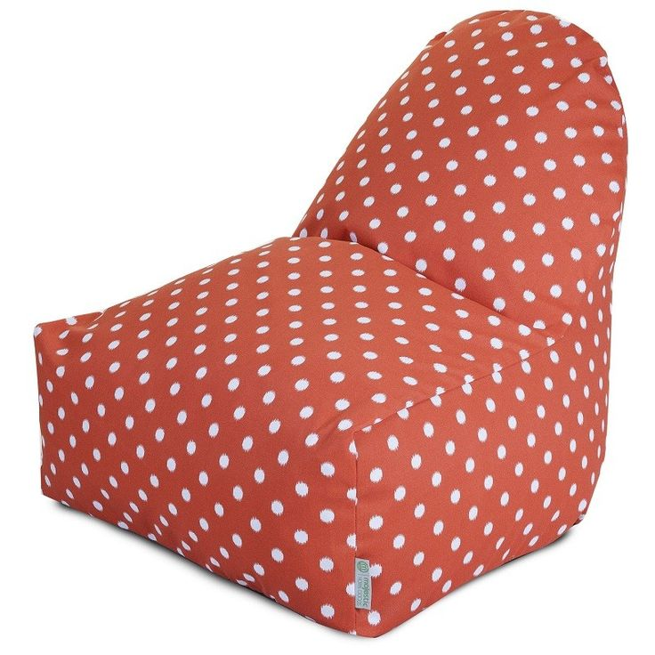 Another Great Find On Orange Ikat Dot Kick It Chair