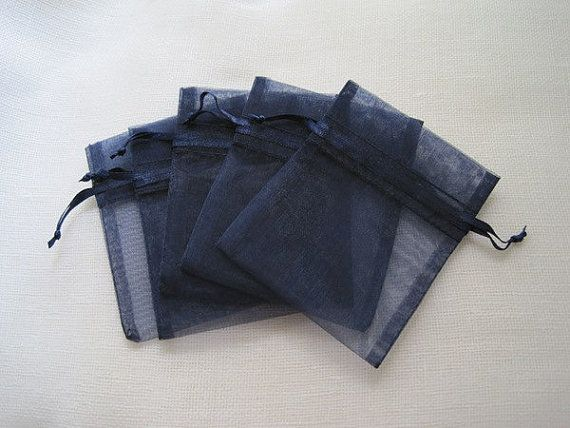 Hey, I found this really awesome Etsy listing at http://www.etsy.com/listing/111175291/30-dark-navy-blue-organza-bags-3-x-4