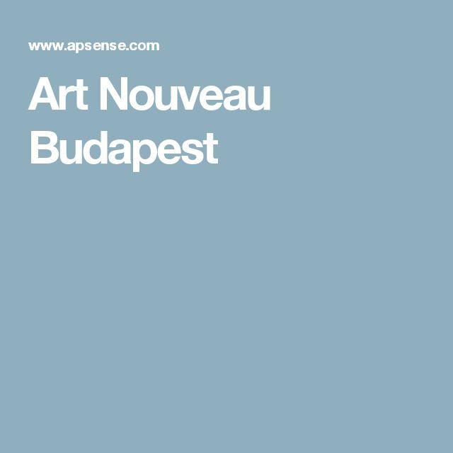 Art Nouveau Budapest