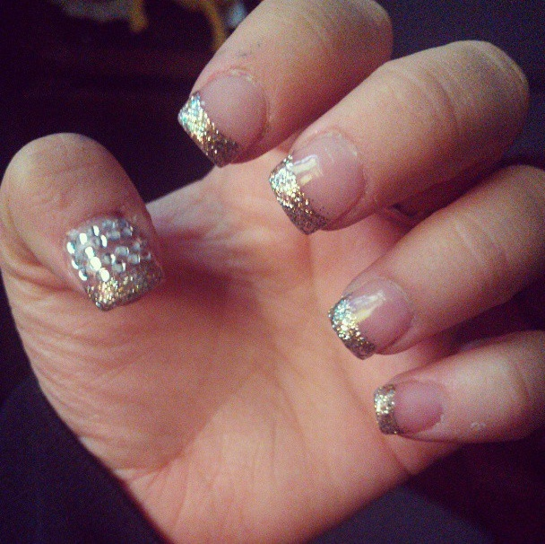 Lon Gpink Nails Design With Glitter