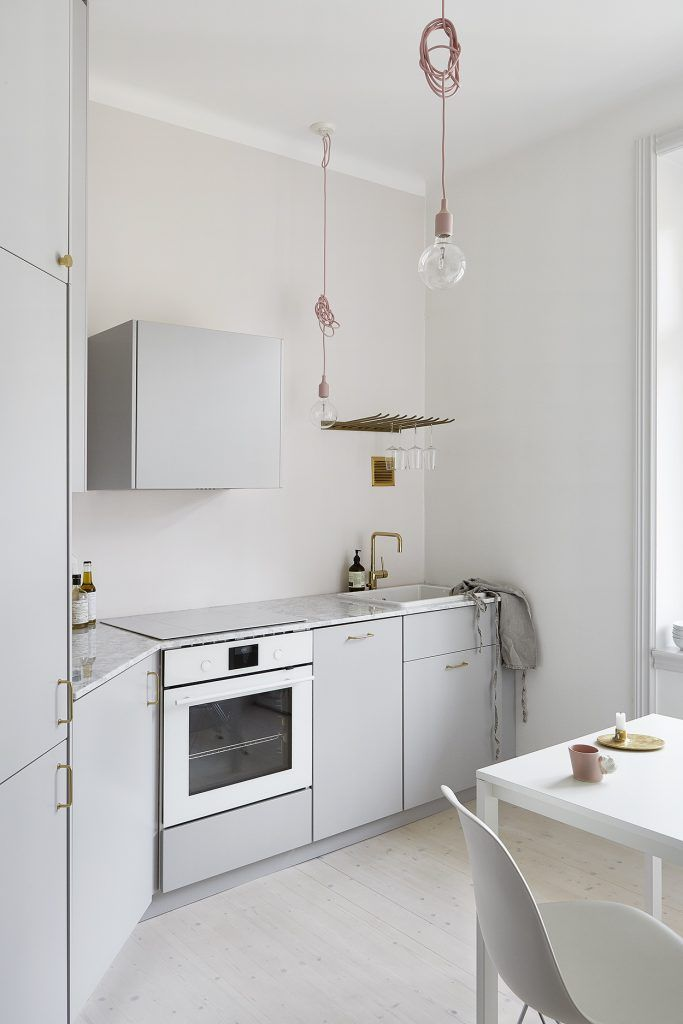 Kleine open keuken in de hal