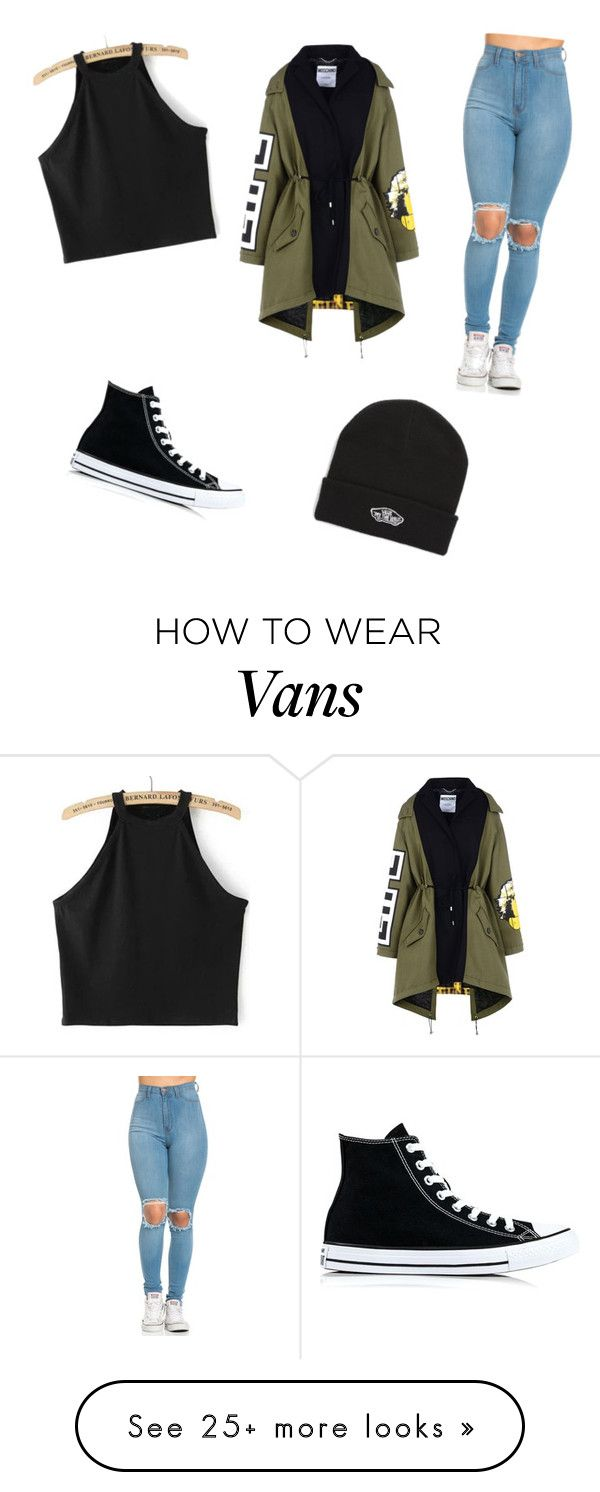 """""""Fall Fun"""" by kittymoonlight on Polyvore featuring Moschino, Converse and Vans"""