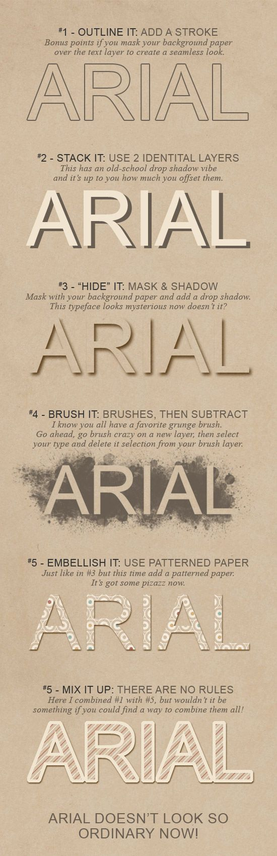 great type tips from Shannon Hegarty