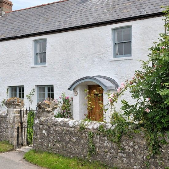 White painted exterior | Modern country cottage | housetohome.co.uk