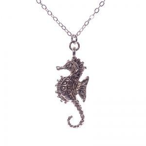 Delicate seahorse necklace