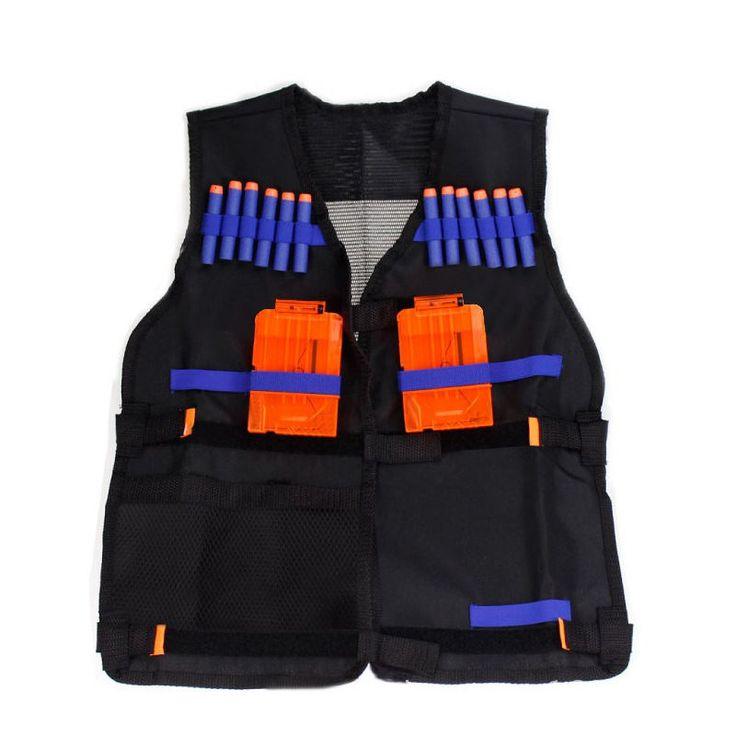 New Tactical Vest Kit Tactical Vest Adjustable with Storage Pockets fit for Nerf N-Strike Elite Team