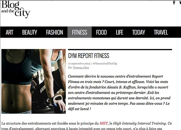 Report Fitness HIIT Montreal Group Fitness Classes Montreal - training report