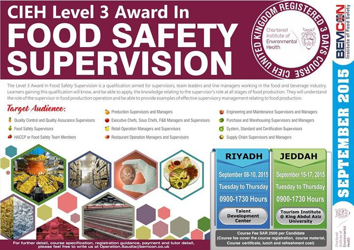 CIEH Level 3 Award in Food Safety Supervision