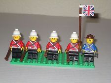 Lego Custom BRITISH ARMY SOLDIER SET w/ 5 Soldiers Minifigs