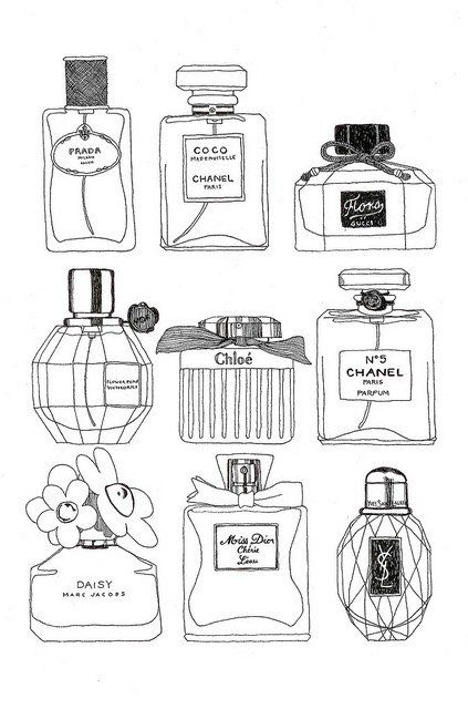 chanel perfume drawing - Google Search