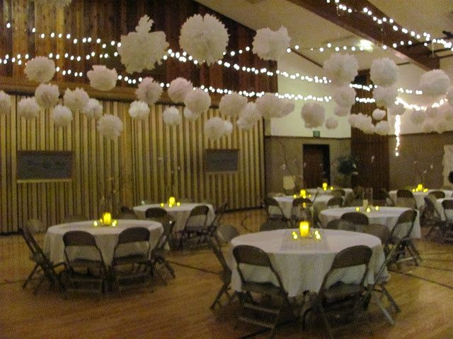 I Just Completed By First Experience Decorating For A Wedding Open House It Was Held In Church Gym Large Empty Space That Ne