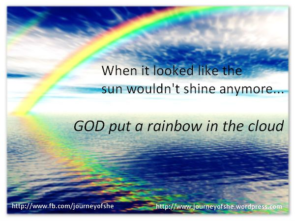 GOD Put A Rainbow In The Clouds! Inspirational Quote