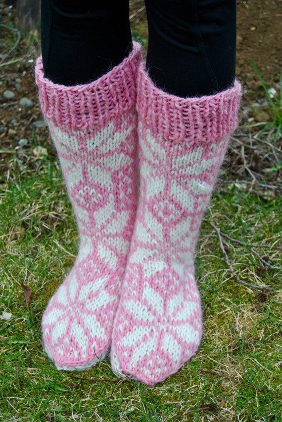 Hlín Icelandic Woolen Socks - Handmade with 100% Pure Icelandic Wool