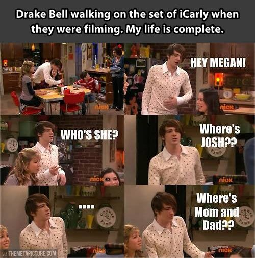 Drake Bell ruins iCarly. And it's great.
