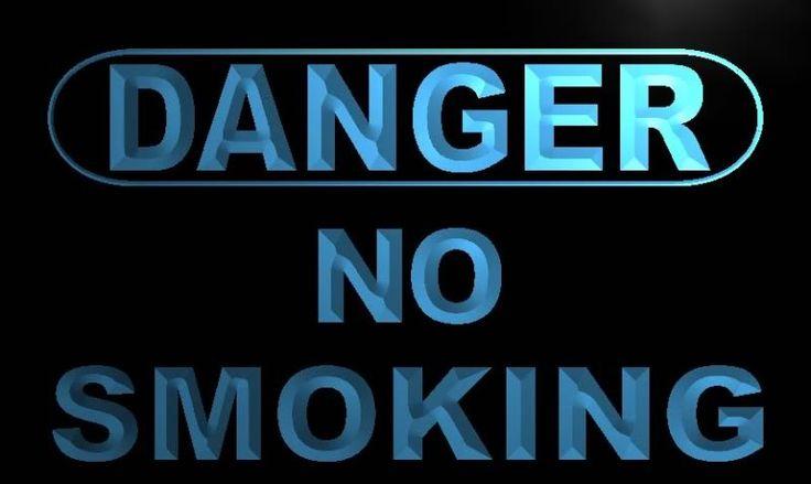 Danger No Smoking Neon Light Sign