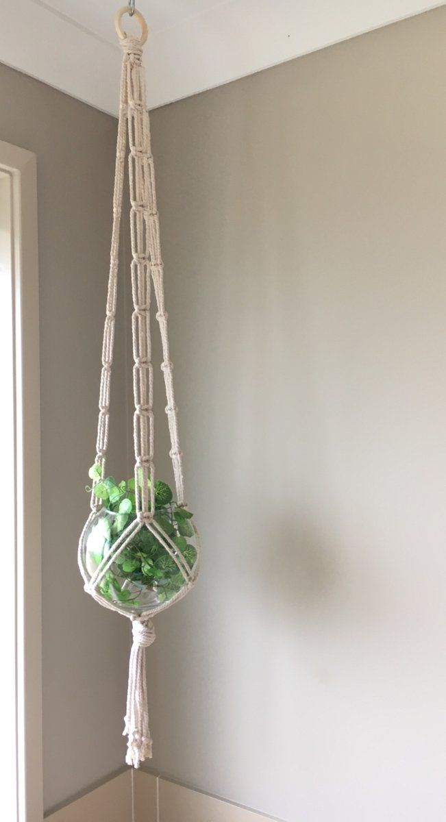 A very minimal design plant hanger in beautiful 4mm twisted cotton. Measures 130cm overall length. Made to order. Please allow up to 2 business...