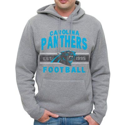 Carolina Panthers Team Arch Pullover Hoodie - Heathered Gray