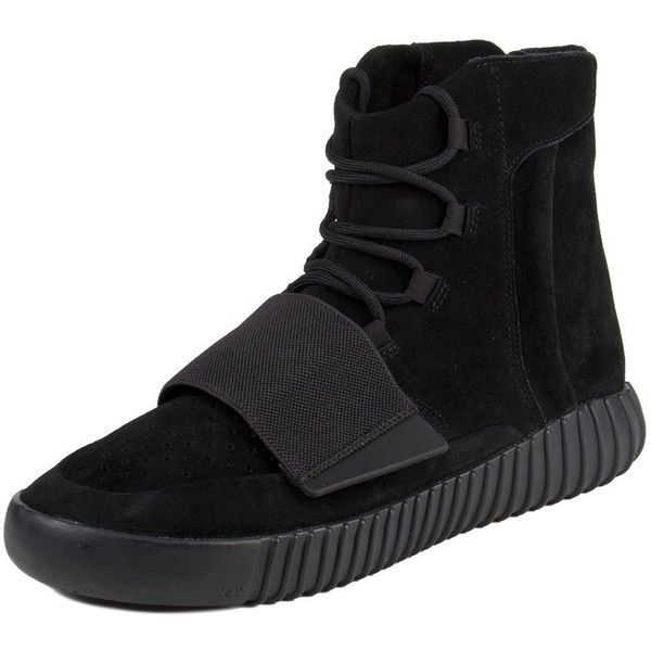 "Adidas Mens Yeezy Boost 750 ""Triple Black"" Black/Cblack Suede ($2,470) ❤ liked on Polyvore featuring men's fashion, men's shoes, men's sneakers, shoes, trainers, adidas mens shoes, mens shoes, mens sneakers, mens suede shoes and mens black suede shoes"
