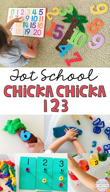 Huge list of activities/ideas for Chicka Chicka 123 themed tot school/preschool. {Mrs. Plemons' Kindergarten}