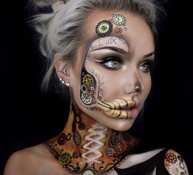 41 Most Jaw-Dropping Halloween Makeup Ideas That Are Still Pretty: Awesome Hallo…