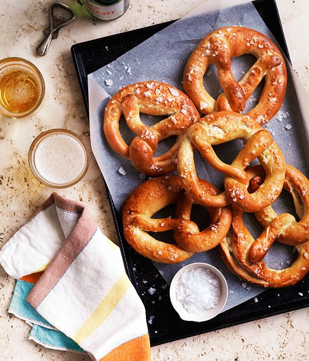 Australian Gourmet Traveller recipe for Laugenbrezel (German pretzels).
