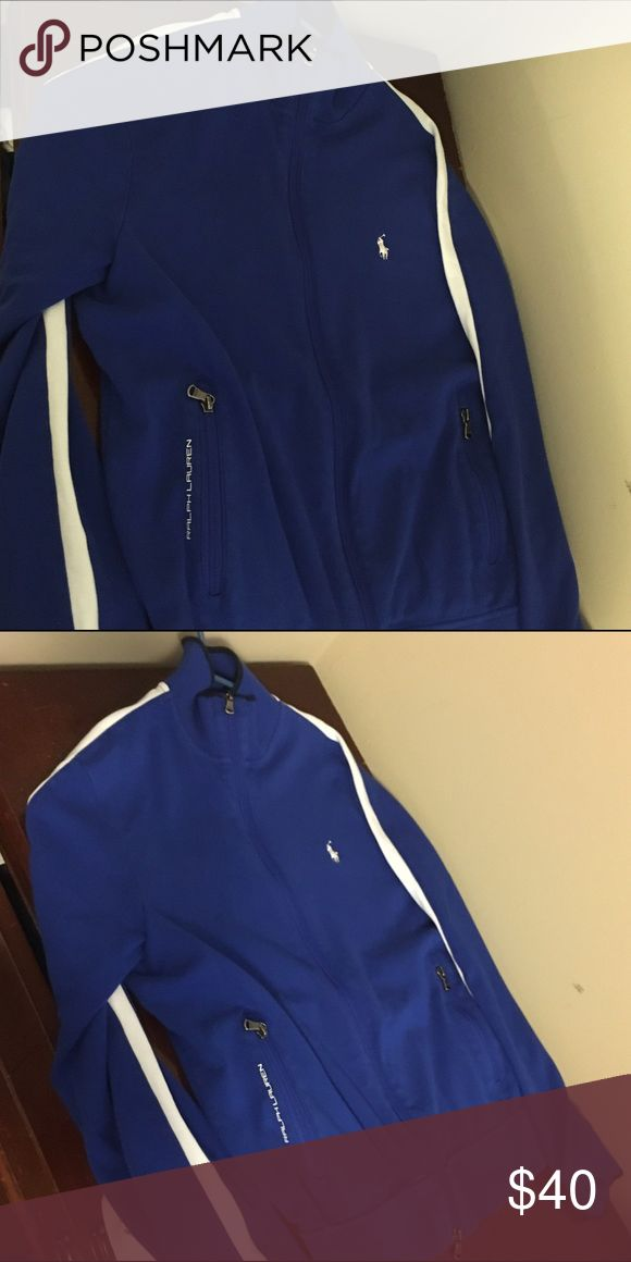 Polo Ralph Luaren zip up. Size M. Great condition! Polo Ralph Luaren Blue zip up. Size M. Great condition!!! No Trades! Polo by Ralph Lauren Sweaters Zip Up