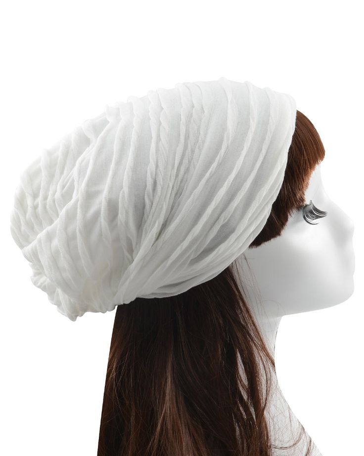 Century Star Double Layers Light Lining Spring Autumn Solid Color Fashionable Baggy Hat White