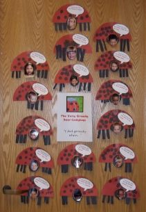ladybug bulletin boards | After reading The Grouchy Ladybug we made our own grouchy ladybugs.
