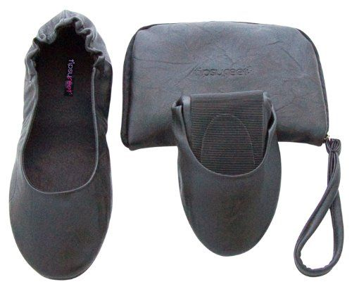 awesome Tipsyfeet Black Foldable Shoes (Medium UK 5-6 EUR 38-39, Black)