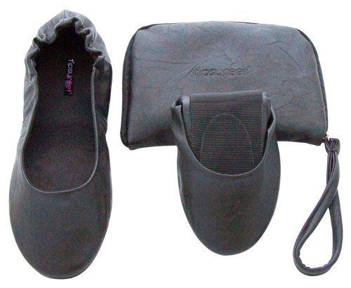 awesome Tipsyfeet Black Foldable Shoes (Medium UK 5-6 EUR 38-39, Black)