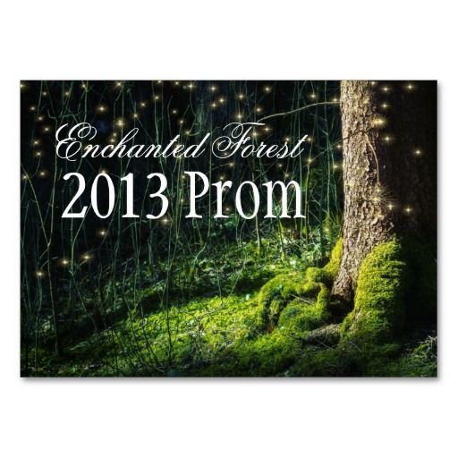 Enchanted Forest Theme | Enchanted Forest Prom Tickets - Invitations Business Card Template ...