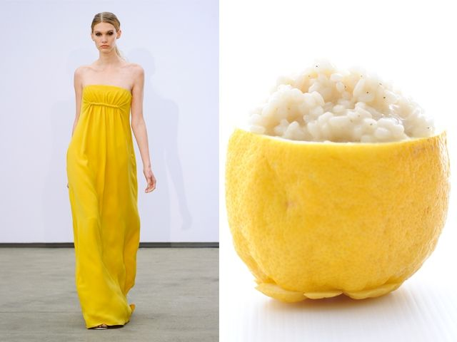 Derek Lam ss 2014 / Risotto with lemon of sorrento, pepper and basil