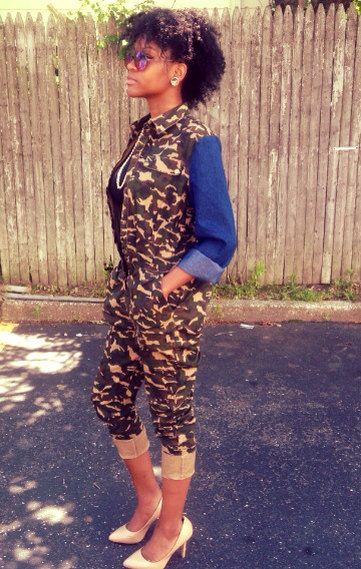 Ready G.I. Jane Camouflage Jumper by Trendyish on Etsy,