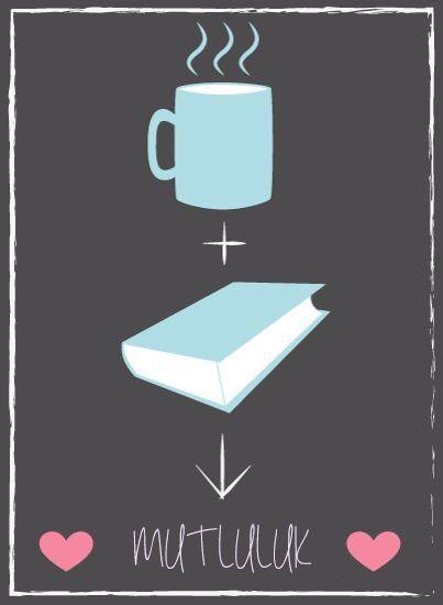 Gecenin resmi. Kitap + kahve = mutluluk