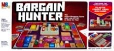 1981 Bargain Hunter game by Milton Bradley | Don's Game Closet  Try to furnish your apartment with bargains starting out with $1000 in cash.  Players move along board game paths visiting Furniture Stores, Department Stores and the Pet Shop to buy items on your shopping list.  Look for sales and lottery prizes.  Win the game by completing your shopping list first and paying off your credit card.