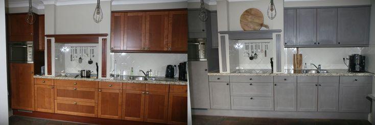De keuken van Annemarie en wees eerlijk wat een transformatie   https://www.shabbytreats.com/blog/krijtverf-voor-keukens/