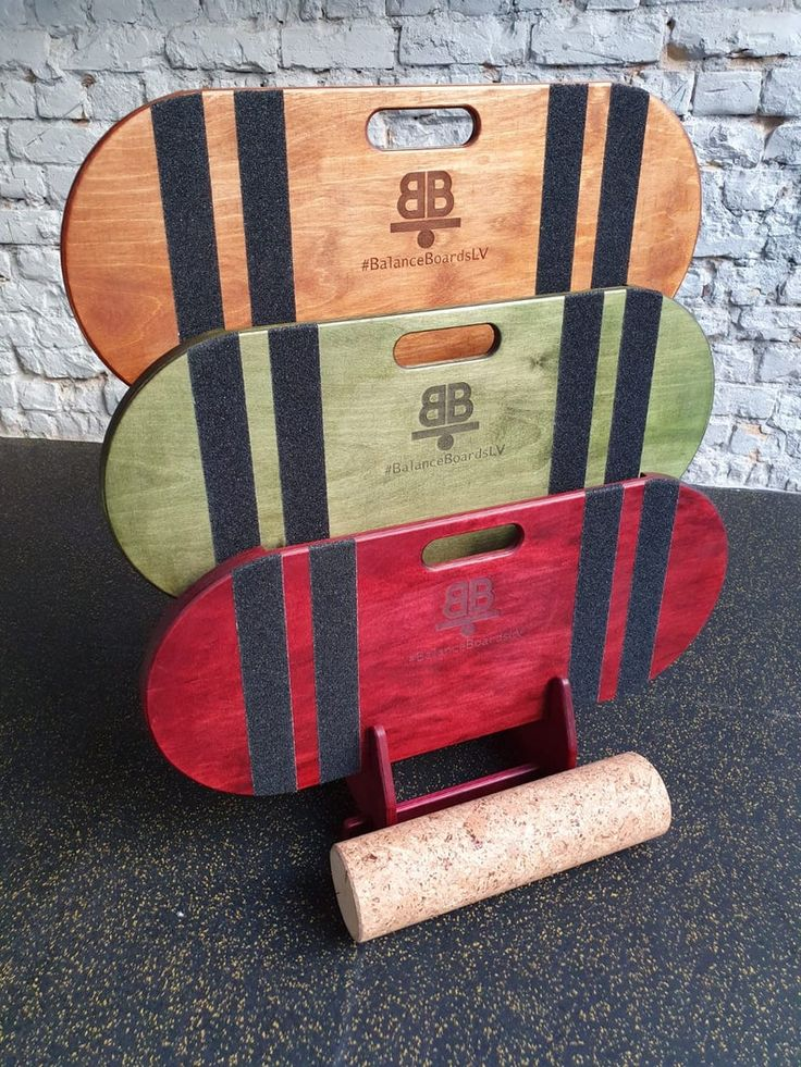 RED Wooden Balance Board from Baltic Birch Plywood