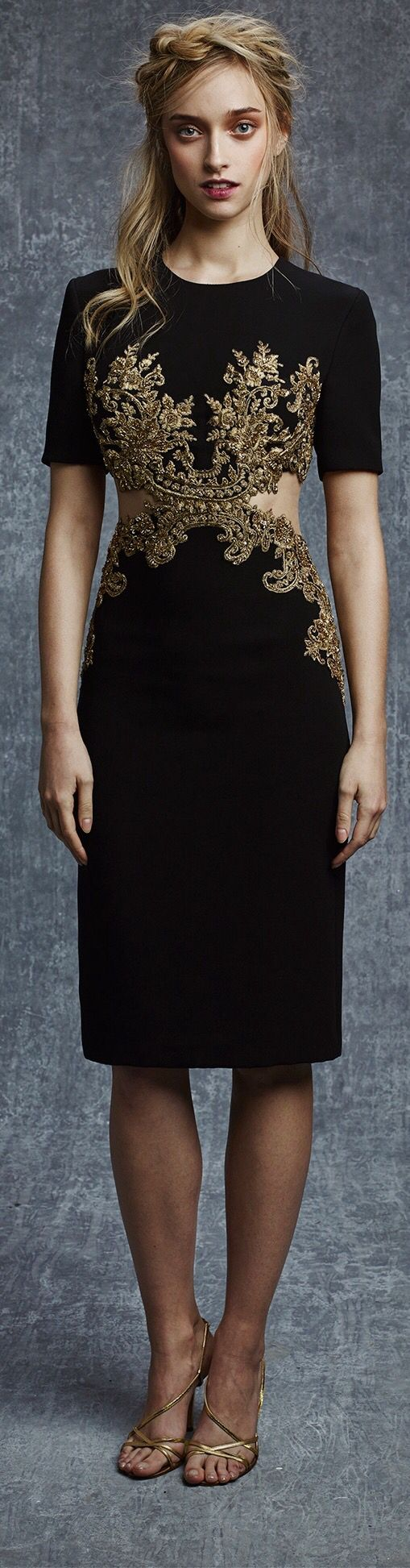 Reem Acra Pre-Fall 2015. Hauntingly beautiful.