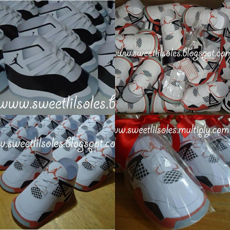 Jordan Shoe Favors · Baby Shower ...