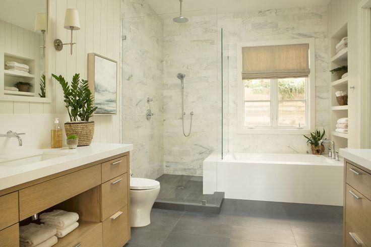 Bath Under Window And Shower Next To It