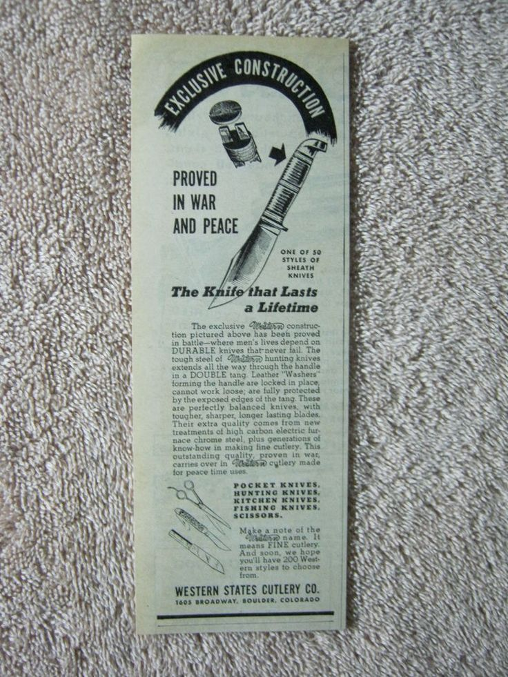 Western Knife ad from WW II era...my scout knife is a Western and EXACTLY like the one pictured.