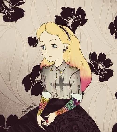 bad princess principesse disney cattive ragazze metal grunge vita su marte 01